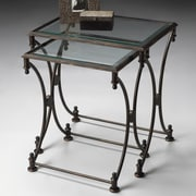 Butler Metalworks 2 Piece Nesting Tables; Antique Bronze