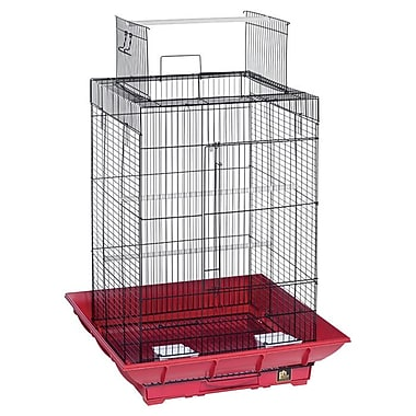 Prevue Hendryx Clean Life PlayTop Bird Cage; Red / Black
