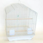 YML Scallop Shell Top Small  Bird Cage; White