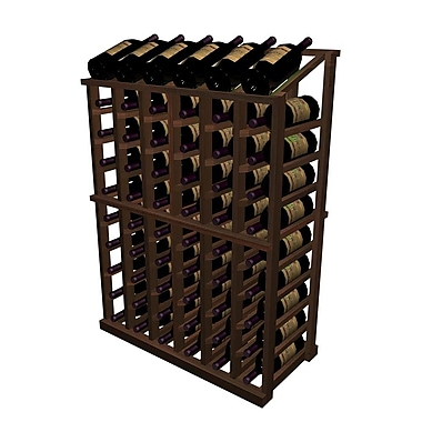 Wine Cellar Designer Series 66 Bottle Floor Wine Rack; Dark Stained Premium Redwood