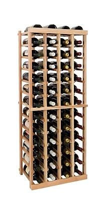 Wine Cellar Vintner Series 52 Bottle Floor Wine Rack; Classic Mahogany