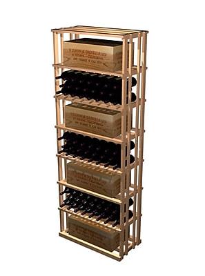 Wine Cellar Designer Series 153 Bottle Floor Wine Rack; Midnight Black Stained Premium Redwood