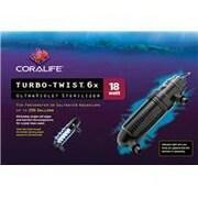 Aqueon Coralife Turbo-Twist Ultraviolet Sterilizer; 6X / 18 Watt