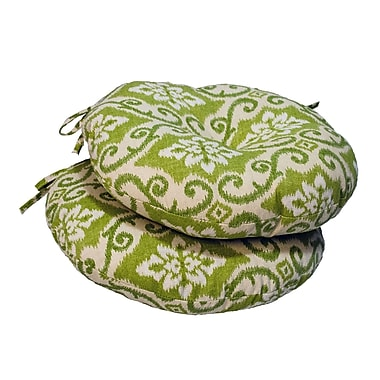 Greendale Home Fashions Bistro Outdoor Dining Chair Cushion (Set of 2)
