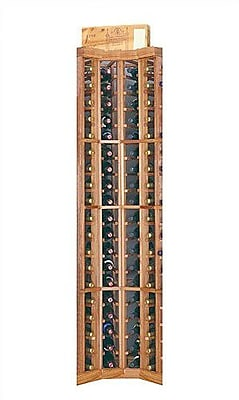 Wine Cellar Designer Series 74 Bottle Floor Wine Rack; Classic Stained Premium Redwood