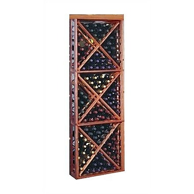 Wine Cellar Designer Series 132 Bottle Floor Wine Rack; Unstained Premium Redwood