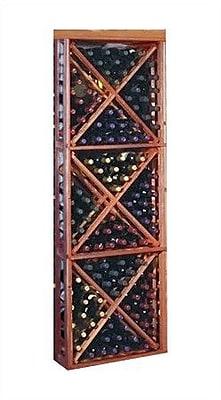 Wine Cellar Designer Series 132 Bottle Floor Wine Rack; Dark Stained Premium Redwood
