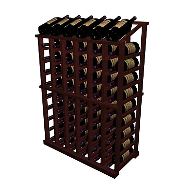 Wine Cellar Designer Series 66 Bottle Floor Wine Rack; Midnight Black Stained Premium Redwood