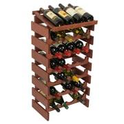Wooden Mallet Dakota 28 Bottle Floor Wine Rack; Mahogany