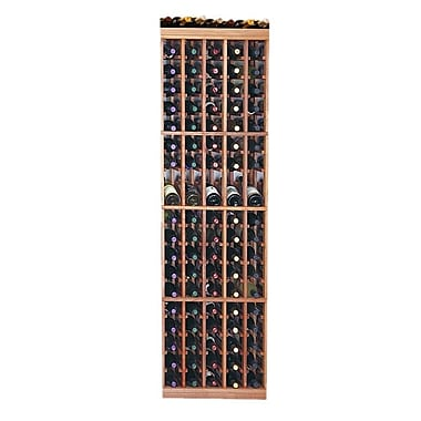 Wine Cellar Designer Series 95 Bottle Floor Wine Rack; Dark Stained Premium Redwood