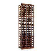 Wine Enthusiast Companies N'finity 90 Bottle Floor Wine Rack; Dark Walnut