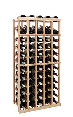 Wine Cellar Vintner Series 60 Bottle Floor Wine Rack; Unfinished