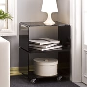 Fox Hill Trading Pure D cor End Table; Black