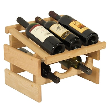 Wooden Mallet Dakota 6 Bottle Tabletop Wine Rack; Unfinished
