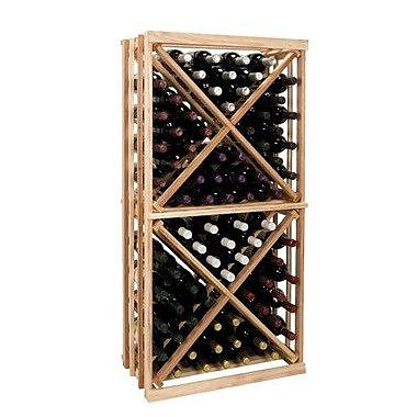 Wine Cellar Vintner Series 192 Bottle Floor Wine Rack; Dark Walnut