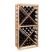 Wine Cellar Vintner Series 192 Bottle Floor Wine Rack; Redwood / Mahogany