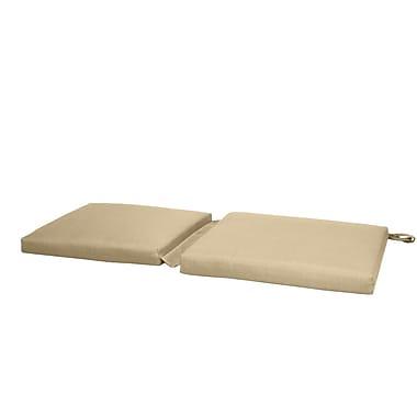 Fiberbuilt Hinge Outdoor Bench Cushion; Beige