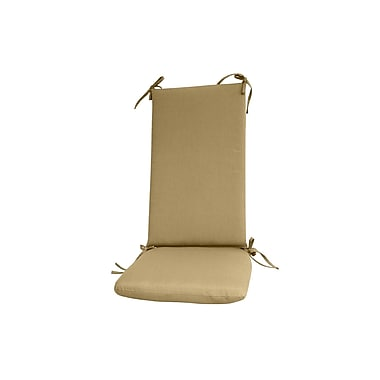Fiberbuilt Outdoor Rocking Chair Cushion; Beige