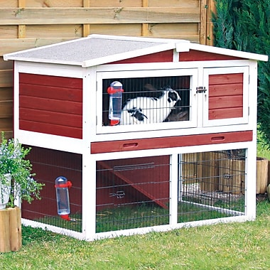 Trixie Small Animal Hutch; Red / White