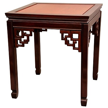 Oriental Furniture Ming End Table; Honey and Cherry