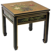 Oriental Furniture Gold Leaf Ming Table