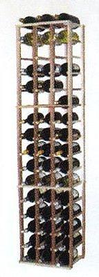 Wine Cellar Designer Series 48 Bottle Floor Wine Rack; Classic Stained Premium Redwood
