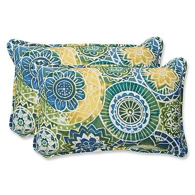 Pillow Perfect Omnia Indoor/Outdoor Throw Pillow (Set of 2); 11.5'' H x 18.5'' W x 5'' D
