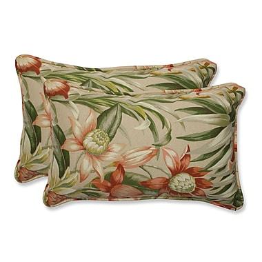 Pillow Perfect Botanical Glow Indoor/Outdoor Lumbar Pillow (Set of 2); 11.5'' x 18.5''