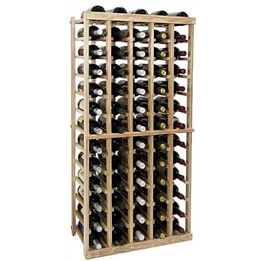 Wine Cellar Vintner Series 65 Bottle Floor Wine Rack; Unfinished