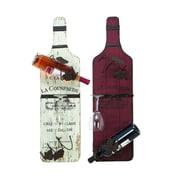 Woodland Imports Vineyard 2 Bottle Wall Mounted Wine Rack