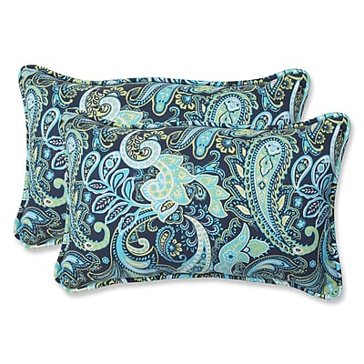 Pillow Perfect Pretty Indoor/Outdoor Throw Pillow (Set of 2); 11.5'' x 18.5''