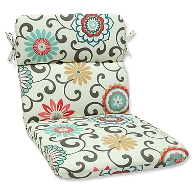 Pillow Perfect Pom Pom Play Outdoor Chair Cushion