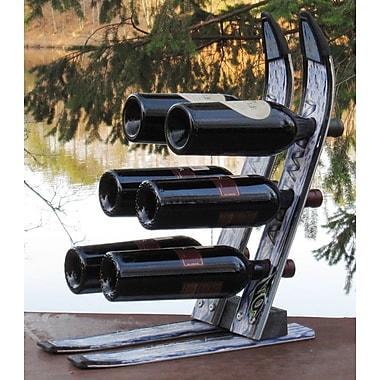 Ski Chair Snow 6 Bottle Tabletop Wine Rack