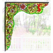 Meyda Tiffany Serpent Left Corner Bracket Window