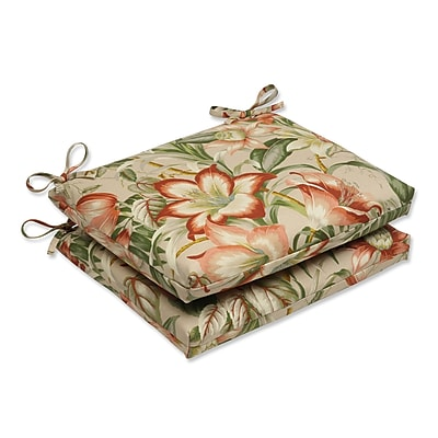 Pillow Perfect Botanical Glow Outdoor Dining Chair Cushion (Set of 2)