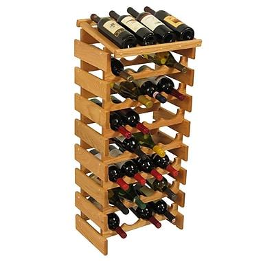 Wooden Mallet Dakota 32 Bottle Floor Wine Rack; Light Oak