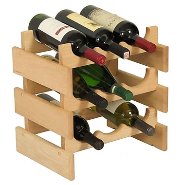 Wooden Mallet Dakota 9 Bottle Tabletop Wine Rack; Unfinished
