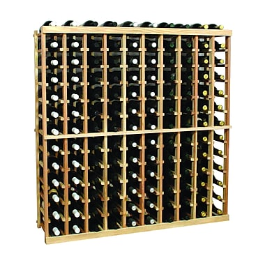 Wine Cellar Vintner Series 130 Bottle Floor Wine Rack; Classic Mahogany