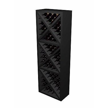 Wine Cellar Designer Series 132 Bottle Floor Wine Rack; Midnight Black Stained Premium Redwood