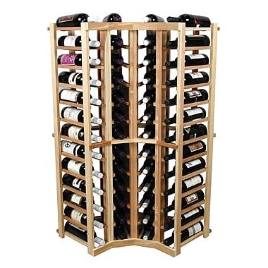 Wine Cellar Vintner 52 Bottle Floor Wine Rack; Classic Mahogany