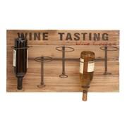 Woodland Imports Wine Tasting 5 Bottle Wall Mounted Wine Rack