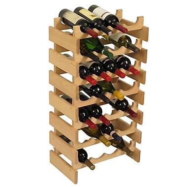 Wooden Mallet Dakota 28 Bottle Floor Wine Rack; Unfinished
