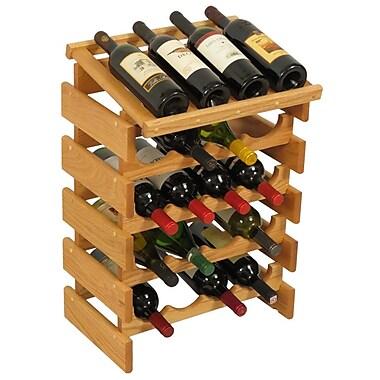 Wooden Mallet Dakota 20 Bottle Floor Wine Rack; Light Oak