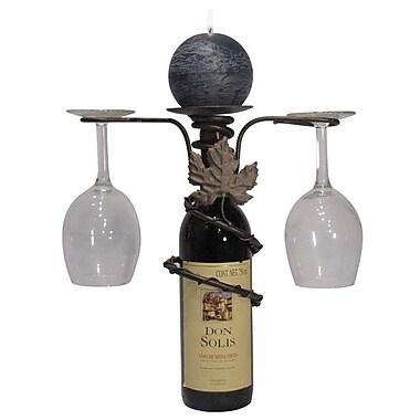 Metrotex Designs Grapevine 1 Bottle Tabletop Wine Rack; Meteor