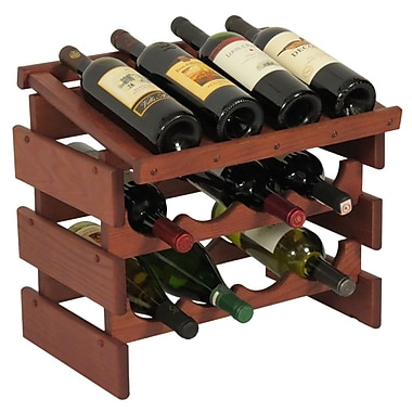 Wooden Mallet Dakota 12 Bottle Tabletop Wine Rack; Mahogany