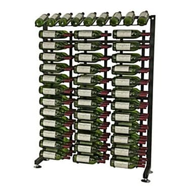 VintageView IDR Series 117 Bottle Floor Wine Rack; Black