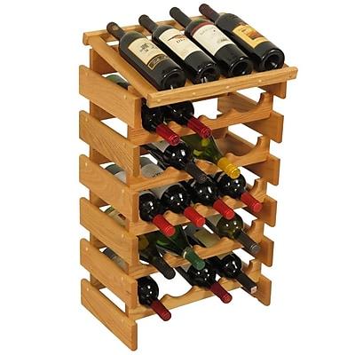 Wooden Mallet Dakota 24 Bottle Floor Wine Rack; Light Oak