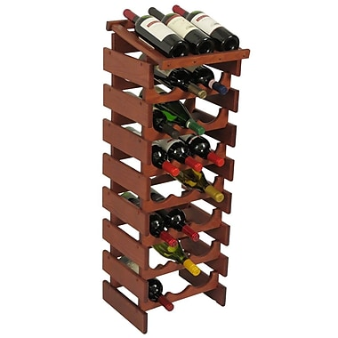 Wooden Mallet Dakota 24 Bottle Floor Wine Rack; Mahogany