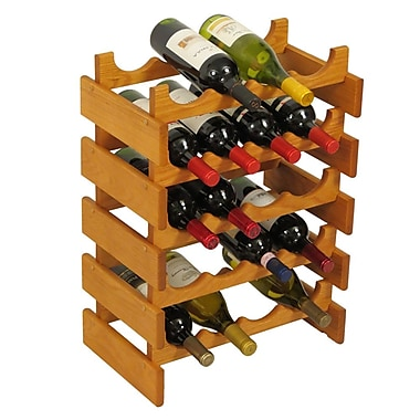 Wooden Mallet Dakota 20 Bottle Floor Wine Rack; Medium Oak