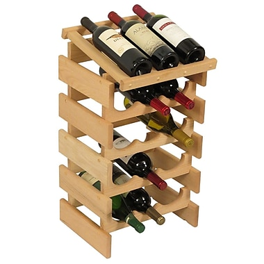 Wooden Mallet Dakota 15 Bottle Floor Wine Rack; Unfinished